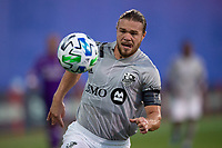 LAKE BUENA VISTA, FL - JULY 25: Samuel Piette #6 of the Montreal Impact dribbles the ball during a game between Montreal Impact and Orlando City SC at ESPN Wide World of Sports on July 25, 2020 in Lake Buena Vista, Florida.