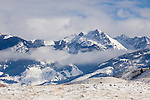 Snow covered Absorkee Range in the Gallatin National Forest in SW Montana by Chico Hotsprings & Livingston, Montana