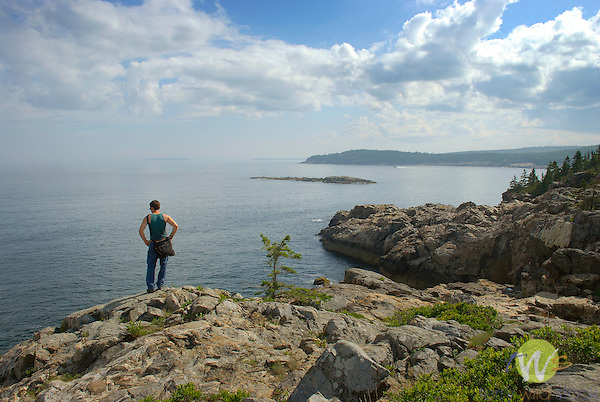 Daniel hiking in Acadia National Park
