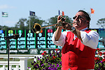 July 05, 2014: Sam The Bugler calls horses to post parade for the 7th running of the Grade III Belmont Sprint Championship Stakes. Sue Kawczynski/ESW/CSM