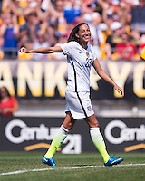 Pittsburgh, PA - August 16, 2015:  The USWNT defeated Costa Rica 8-0 during the first stop of the Victory Tour at Heinz Field.