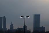 Tulsa,Oklahoma,Skyline,Downtown,IDL,Lamp,Lamppost,Skyscraper