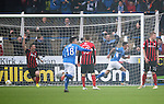 Queen of the South v St Johnstone...07.02.15    Scottish Cup 5th Round<br /> Derek Lyle wheels away after scoring the first goal for Queen of the South<br /> Picture by Graeme Hart.<br /> Copyright Perthshire Picture Agency<br /> Tel: 01738 623350  Mobile: 07990 594431