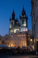 Tschechien, Prag, Teyn-Kirche, (Tysky Chram), Unesco-Weltkulturerbe