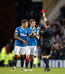 Ref Alan Muir sends off Ryan Jack
