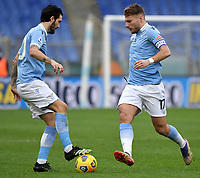 Luis Alberto and Ciro Immobile of SS Lazio in action during the Serie A football match between SS Lazio and ACF Fiorentina at Olimpico stadium in Roma (Italy), January 6th, 2021. Photo Andrea Staccioli / Insidefoto