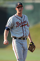 Danville Braves David Filak at Howard Johnson Field in Johnson City, Tennessee July 6, 2010.   Johnson City won the game 6-5.  Photo By Tony Farlow/Four Seam Images