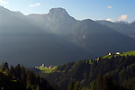 Austria, East-Tyrol, Puster Valley, village Unterried with church