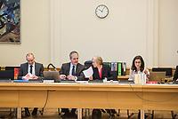"""8. Sitzungstag des 1. Untersuchungsausschusses """"Terroranschlag Breitscheidplatz"""" am Freitag den 5. Januar 2018.<br /> Als Zeugen fuer die 8. Sitzung des sog. """"Amri-Untersuchungsausschuss"""" des Berliner Abgeordnetenhaus waren Behoerdenmitarbeiter aus Nordrhein-Westfalen, der Berliner Auslaenderbehoerde und dem Bundesinnenministerium geladen. Film-, Foto- und Tonaufnahmen von den Zeugen waren untersagt.<br /> Der Amri-Untersuchungsausschuss will versuchen die diversen Unklarheiten im Fall des Weihnachtsmarkt-Attentaeters zu aufzuklaeren.<br /> 2.vl.: Burkard Dregger, Ausschussvorsitzender, CDU.<br /> 5.1.2018, Berlin<br /> Copyright: Christian-Ditsch.de<br /> [Inhaltsveraendernde Manipulation des Fotos nur nach ausdruecklicher Genehmigung des Fotografen. Vereinbarungen ueber Abtretung von Persoenlichkeitsrechten/Model Release der abgebildeten Person/Personen liegen nicht vor. NO MODEL RELEASE! Nur fuer Redaktionelle Zwecke. Don't publish without copyright Christian-Ditsch.de, Veroeffentlichung nur mit Fotografennennung, sowie gegen Honorar, MwSt. und Beleg. Konto: I N G - D i B a, IBAN DE58500105175400192269, BIC INGDDEFFXXX, Kontakt: post@christian-ditsch.de<br /> Bei der Bearbeitung der Dateiinformationen darf die Urheberkennzeichnung in den EXIF- und  IPTC-Daten nicht entfernt werden, diese sind in digitalen Medien nach §95c UrhG rechtlich geschuetzt. Der Urhebervermerk wird gemaess §13 UrhG verlangt.]"""