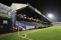General view of the main stand at Roots Hall - Southend United vs Swindon Town - nPower League Two Football at Roots Hall, Southend-on-Sea, Essex - 31/01/12 - MANDATORY CREDIT: Gavin Ellis/TGSPHOTO - Self billing applies where appropriate - 0845 094 6026 - contact@tgsphoto.co.uk - NO UNPAID USE.