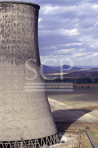 Pocerady, Czech Republic. Power station cooling towers.