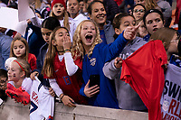 HOUSTON, TX - JANUARY 31: Fans cheer during a game between Panama and USWNT at BBVA Stadium on January 31, 2020 in Houston, Texas.