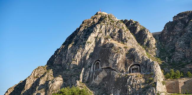 Royal rock tombs of Pontus including Mithridates I, died 266 BC. Amasya, Turkey