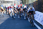 World Champion Julian Alaphilippe (FRA) Deceuninck-Quick Step attacks on the Poggio quickly followed by Wout Van Aert (BEL) Team Jumbo-Visma during the 112th edition of Milan-San Remo 2021, running 299km from Milan to San Remo, Italy. 20th March 2021. <br /> Photo: LaPresse/Fabio Ferrari | Cyclefile<br /> <br /> All photos usage must carry mandatory copyright credit (© Cyclefile | LaPresse/Fabio Ferrari)