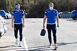 St Johnstone v Clyde…17.04.21   McDiarmid Park   Scottish Cup<br />Michael O'Halloran and Shaun Rooney arrive ahead of todays Scottish Cup game against Clyde<br />Picture by Graeme Hart.<br />Copyright Perthshire Picture Agency<br />Tel: 01738 623350  Mobile: 07990 594431