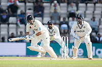 Ross Taylor, New Zealand defends into the on side during India vs New Zealand, ICC World Test Championship Final Cricket at The Hampshire Bowl on 23rd June 2021