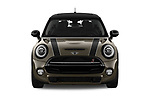 Car photography straight front view of a 2019 Mini Hardtop 2 Door Cooper S Signature 3 Door Hatchback