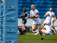 17th April 2021; AJ Bell Stadium, Salford, Lancashire, England; English Premiership Rugby, Sale Sharks versus Gloucester; Willi Heinz of Gloucester Rugby runs in a try