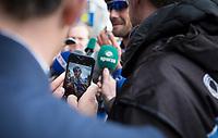 Capturing Tom Boonen (BEL/Quick Step Floors) post-race<br /> <br /> 105th Scheldeprijs 2017 (1.HC)<br /> 1day race: Mol > Schoten 200km