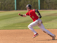 Harvard-Westlake Wolverines Pete Crow-Armstrong (21) running the bases during a High School baseball game on May 14, 2019 in Encino, California.  (Terry Jack/Four Seam Images)