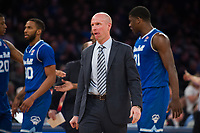 NEW YORK, NY - Thursday March 9, 2017: Seton Hall and Marquette square off in the Quarterfinals of the Big East Tournament at Madison Square Garden.