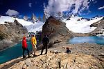 Trekkers, Patagonian icecap, Los Glaciares National Park, Argentina