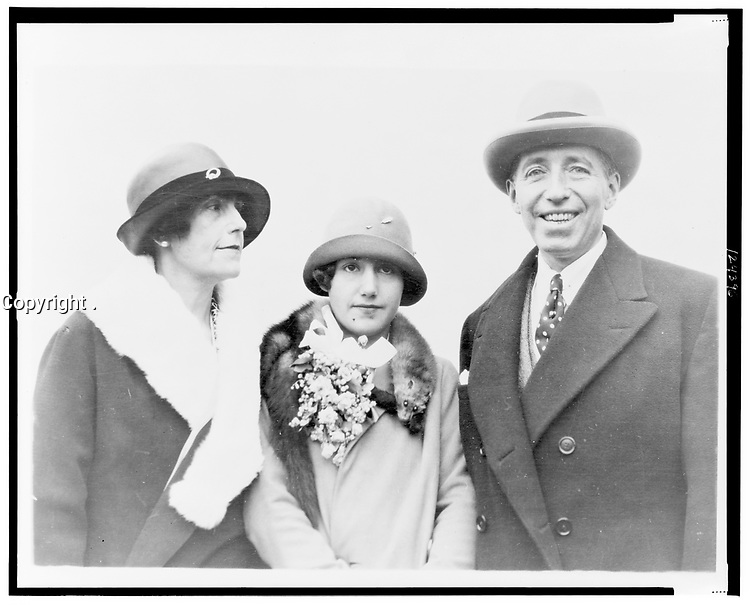 jeweler Pierre Cartier, his wife, and daughter,     1926 June 8.