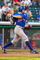 May 18, 2009:  Matt Matulia of the Iowa Cubs, Pacific Cost League Triple A affiliate of the Chicago Cubs, during a game at the Spring Mobile Ballpark in Salt Lake City, UT.  Photo by:  Matthew Sauk/Four Seam Images