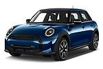 2021 MINI MINI Cooper-Yours 5 Door Hatchback Angular Front automotive stock photos of front three quarter view