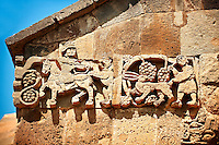 Bas Releif sculptures with scenes from the Bible on the outside of the 10th century Armenian Orthodox Cathedral of the Holy Cross on Akdamar Island, Lake Van Turkey 34