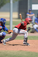 Arizona Diamondbacks second baseman Fernery Ozuna (2) during an Instructional League game against the Chicago Cubs on October 5, 2013 at Salt River Fields at Talking Stick in Scottsdale, Arizona.  (Mike Janes/Four Seam Images)