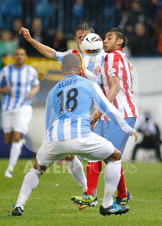 Madrid (05/05/2012).- Estadio Vicente Calderon..Liga BBVA.Atletico de madrid - Malaga Club de Futbol..Salvio...Photo: Alex Cid-Fuentes / ALFAQUI..