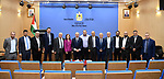 Palestinian Prime Minister Mohammed Ishtayeh meets with a delegation from the Engineers Syndicate, in the West Bank city of Ramallah, on October 05, 2021. Photo by Prime Minister Office