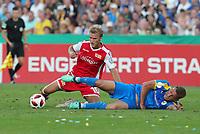 Sebastian Andersson, Dennis Slamar /   /        /      <br /> / Sport / Football / DFB Pokal 1.round 3. Bundesliga 2.Bundesliga /  2018/2019 / 19.08.2018 / FC CZ Jena vs. 1.FC Union Berlin / DFL regulations prohibit any use of photographs as image sequences and/or quasi-video. /<br />       <br />    <br />  *** Local Caption *** © pixathlon<br /> Contact: +49-40-22 63 02 60 , info@pixathlon.de