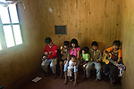 Morinigo family playing traditional Mbya Guarani music in the village of Katu-Pyry near San Ignacio, Misiones, Argentina.