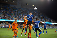 SAN JOSE, CA - JULY 24: Tanner Beason #15 during a game between Houston Dynamo and San Jose Earthquakes at PayPal Stadium on July 24, 2021 in San Jose, California.