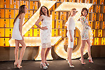 Spanish models (L-R) Laura Sanchez, Jose Toledo, Judit Masco and Nieves Alvarez pose during Licor 43 presentation in Madrid, Spain. January 29, 2015. (ALTERPHOTOS/Victor Blanco)