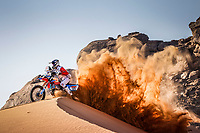 4th January 2021; Dakar Rally stage 2;  #121 Barthelemy Guillaume (fra), KTM, Team RS Concept, Moto, Bike, action during the 2nd stage of the Dakar 2021 between Bisha and Wadi Al Dawasir, in Saudi Arabia on January 4, 2021