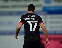 The back of Lincoln City's Ramirez Howarth's shirt<br /> <br /> Photographer Andrew Vaughan/CameraSport<br /> <br /> EFL Trophy Northern Section Group E - Mansfield Town v Lincoln City - Tuesday 6th October 2020 - Field Mill - Mansfield  <br />  <br /> World Copyright © 2020 CameraSport. All rights reserved. 43 Linden Ave. Countesthorpe. Leicester. England. LE8 5PG - Tel: +44 (0) 116 277 4147 - admin@camerasport.com - www.camerasport.com