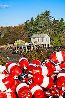Lobster Buoys, Corea Harbor, Maine, USA