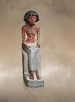 Ancient Egyptian statue of Maa, limestone, New Kingdom, 18th Dynasty, (1480-1390 BC), Thebes Necropolis. Egyptian Museum, Turin. Drovetti collection. Cat 3089