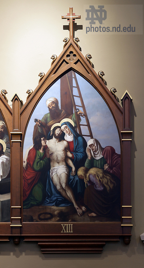 Stations of the Cross in the Basilica of the Sacred Heart.  Station 13...Photo by Matt Cashore..