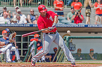 20 March 2015: Washington Nationals infielder Dan Uggla in Spring Training action against the Houston Astros at Osceola County Stadium in Kissimmee, Florida. The Nationals defeated the Astros 7-5 in Grapefruit League play. Mandatory Credit: Ed Wolfstein Photo *** RAW (NEF) Image File Available ***