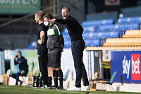 Mark Moseley, Southend United Manager points out instructions during Southend United vs Harrogate Town, Sky Bet EFL League 2 Football at Roots Hall on 12th September 2020
