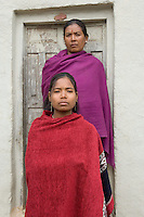 Nepal, Dang. Gita Chandhary, ex-Kumlari, girl in bonded labor. Her family was given a piglet for her freedom.