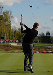 5 October 2008: Robert Allenby watches a tee shot during the final round at the Turning Stone Golf Championship in Verona, New York.
