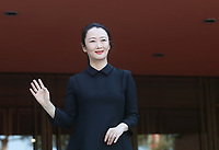 L'attrice cinese Zhao Tao posa durante un red carpet alla 14^ Festa del Cinema di Roma all'Aufditorium Parco della Musica di Roma, 26 ottobre 2019.<br /> Chinese actress Zhao Tao poses on a red carpet   during the 14^ Rome Film Fest at Rome's Auditorium, on 26 October 2019.<br /> UPDATE IMAGES PRESS/Isabella Bonotto