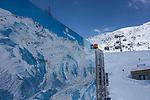 Base of St Christoph at St Anton Ski Area, Austria,