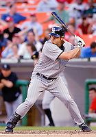 12 June 2006: JD Closser, catcher for the Colorado Rockies, at bat during a game against the Washington Nationals at RFK Stadium, in Washington, DC. The Rockies defeated the Nationals 4-3 in the first game of the four game series...Mandatory Photo Credit: Ed Wolfstein Photo..
