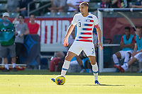 CARSON, CA - FEBRUARY 1: Aaron Long #3 of the United States looking for an open teammate during a game between Costa Rica and USMNT at Dignity Health Sports Park on February 1, 2020 in Carson, California.
